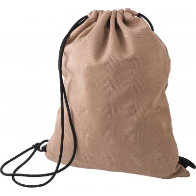 Image of Polyester drawstring backpack