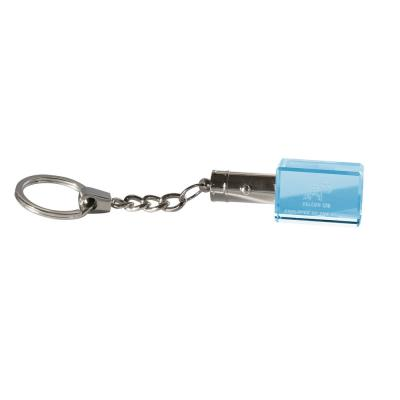 Image of 3cm Optical Crystal LED Keyring