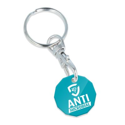Image of Anti Microbial Trolley Coin Keyring